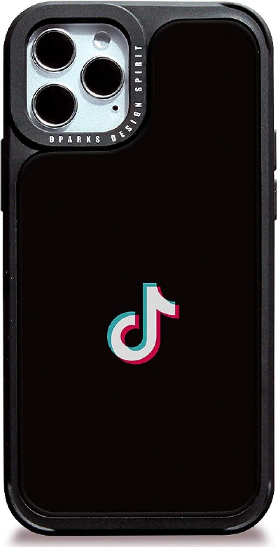 DPARKS Apple iPhone 11 Mobile Phone Case TikTok Black Protective TPU Bumper Frame Military-Grade Shockproof Stylish Slim & Hard Design Cool Cute Pretty Minimal Artistic Premium