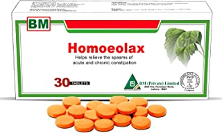 Homeolax 30 Tablets, A Gentle Herbal Laxative That Relieves The Spasms of Acute and Chronic Constipation, Fast Acting Effective Relief with No Side Effects