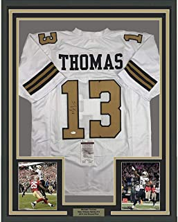 Framed Autographed/Signed Michael Thomas 33x42 New Orleans Color Rush Football Jersey JSA COA
