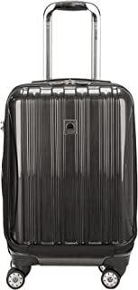 "DELSEY Paris Helium Aero International Carry on Expandable Spinner Trolley - 19"", Brushed Charcoal (Metallic) - 0764011"