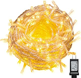 WISD Christmas Lights 1000 LED 338ft with 8 Effects and Memory Function, LED Fairy String Lights Waterproof Plug in for Indoor Outdoor Christmas Tree Home Garden Wedding Party Decoration, Warm White
