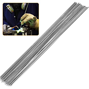 Varilla de soldadura de aluminio de baja temperatura de 50 piezas varillas de reparaci/ón de aluminio sin necesidad de soldadura en polvo plata BCVBFGCXV varilla de soldadura con n/úcleo de fundente