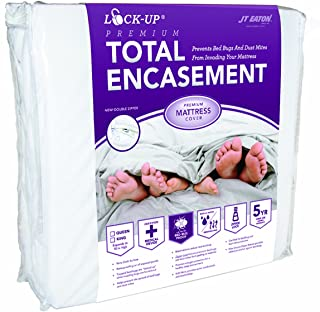 JT Eaton 81FULENC Bed Bug Lock-Up Total Encasement Mattress Cover, Full