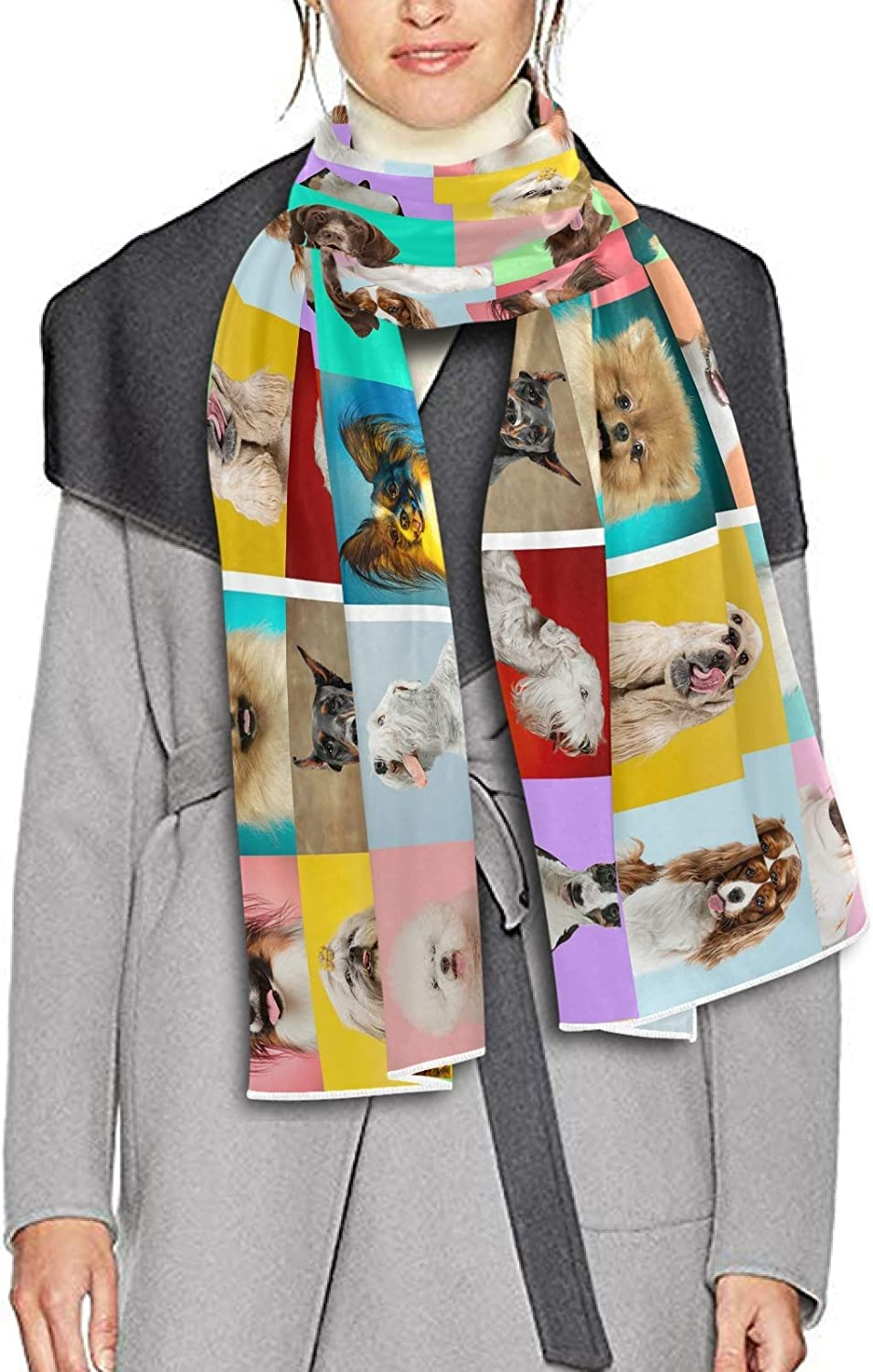 Scarf for Women and Men Cute Doggies Or Pets Are Happy Blanket Shawl Scarves Wraps Soft Winter Large Scarves Lightweight