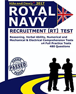 Royal Navy Recruiting [RT] Test: Reasoning, Verbal Ability, Numerical, Mechanical and Electrical Comprehension Tests