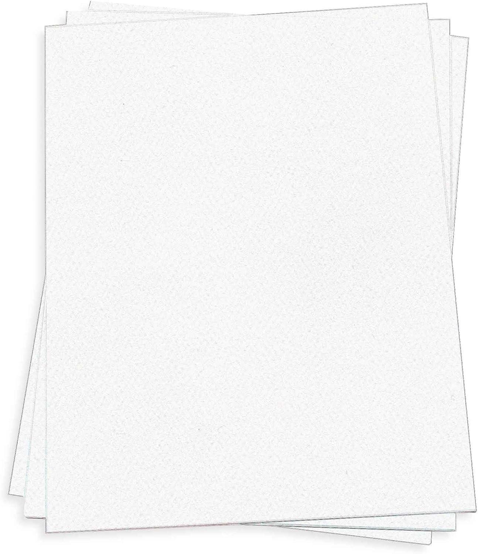 Pure White Card Stock - 12 x Cover Felt LCI 100lb 250 New life Pack Rapid rise
