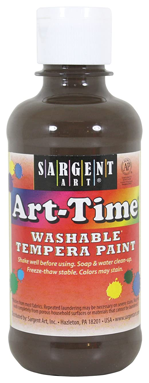 Sargent Art 17-4188 8 Ounce Art-Time Washable Tempera Paint Brown