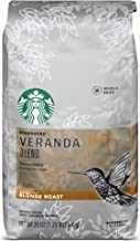 Starbucks Veranda Blend Blonde Roast Whole Bean Coffee, 20 Ounce (Pack of 1)