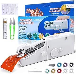 Charminer Mini máquina de coser, mini máquina de coser portátil eléctrica de mano máquina de coser rápida y manejable adec...