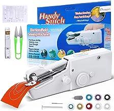 CHARMINER Handheld Sewing Machine, Mini Handy Cordless Portable Sewing Machine, Quick Repairing Suitable for Denim Curtain...