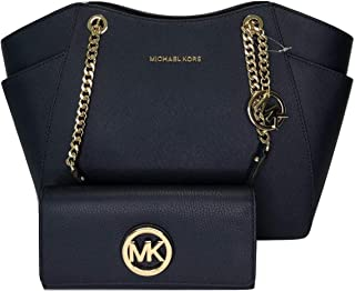5ba0506a9a24 MICHAEL Michael Kors Jet Set Travel Large Chain Shoulder Tote bundled with Michael  Kors Fulton Flap