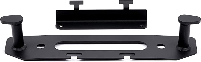 WARN 102222 Jeep JL Fairlead Backing Plate and Hook Stay, Black