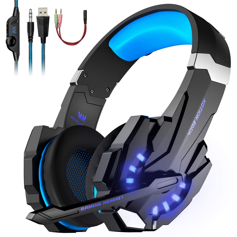 LESHP - Auriculares para gamer G9000 con cable para PC, PS4 ...