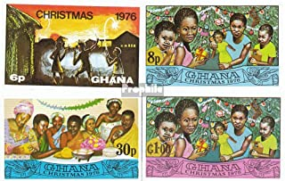 Ghana 670B-673B (Complete.Issue.) 1976 Christmas (Stamps for Collectors) Christmas