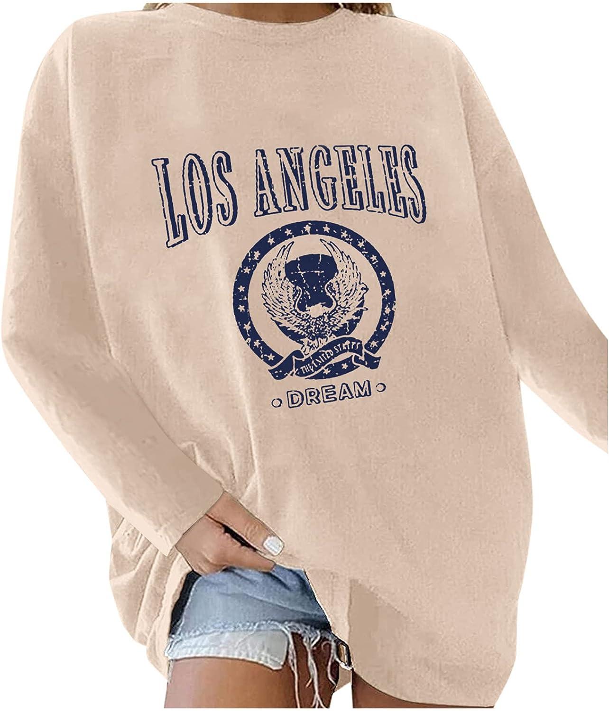 BFSAUHA Women's La California Oversized Swea Long discount Dedication Sleeve Batwing