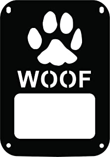 JeepTails Dog Paw Woof - Jeep JK Wrangler Tail Lamp Covers - Black - Set of 2