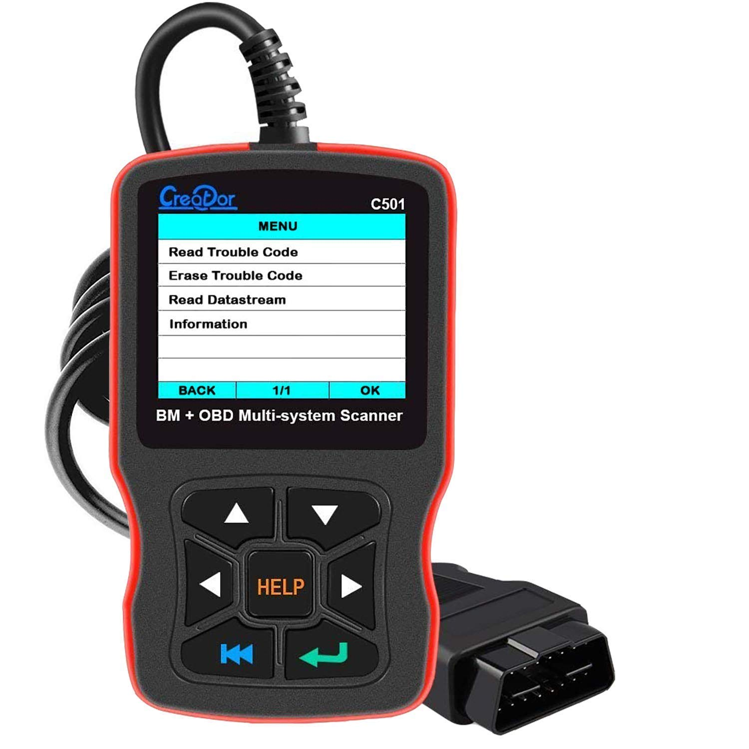 MAOZUA Latest V6.1 Creator C110 Code Reader Airbag//ABS//SRS Diagnostic Scan Tool ONLY Compatible for BM Cars