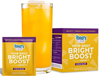 EBOOST Hungry Girl Your Daily Bright Boost - Beauty and Energy Powder - 15 Packets - Collagen Peptides for Healthier Hair,...