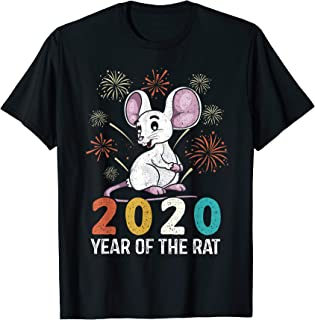 2020 Year of The Rat Chinese Zodiac Happy New Year Gifts T-Shirt