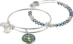Alex and Ani - Art Infusion Set, Four Leaf Clover Bangle