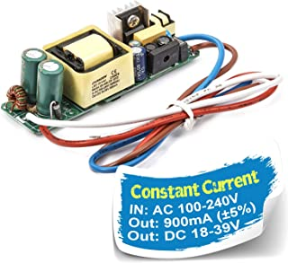 Chanzon LED Driver 900mA (Constant Current Output) 18V-39V (Input 100-240V AC-DC) (6-12) x3 18W 21W 24W 27W 30W 36W Power Supply 900 mA Lighting Transformer for High Power 30 W COB Chips (PCB Board)