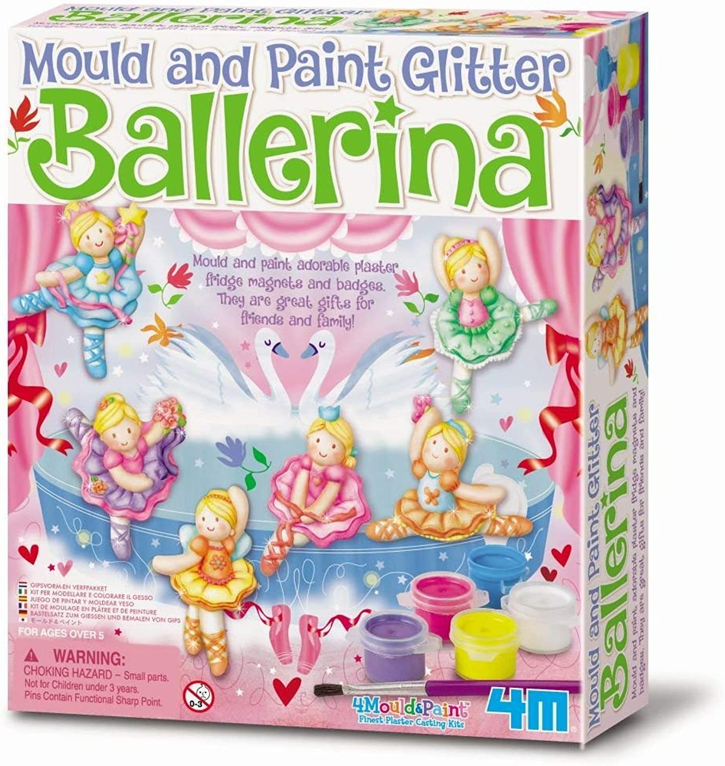 3xGlitter Ballerina Mould and Paint