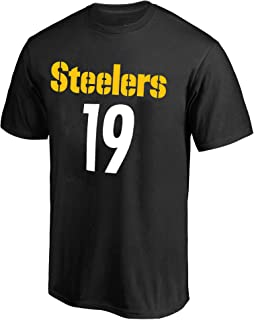 Juju Smith-Schuster Pittsburgh Steelers #19 Black Youth Name & Number Jersey T-Shirt