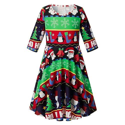 c944454abe20 RAISEVERN Toddler Girl's Dress 3D Print Short Sleeve Swing Skirt Casual Kids  Party Dress