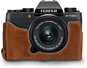 MegaGear Ever Ready Genuine Leather Camera Half Case and Strap compatible with Fujifilm X-T100