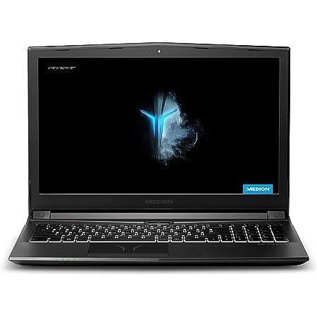 "MEDION ERAZER P6605 - Portátil gaming 15.6"" FullHD (Intel Core i5-8300H, 8GB RAM, 256GB SSD, Nvidia GTX1050-4GB, Windows 10 Home) negro - Teclado QWERTY Español"