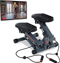 Women's Health Men's Health Bluetooth Cardio Stair Stepper with Adjustable Resistance Bands and with MyCloudFitness App, B...