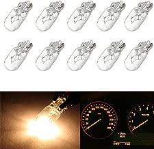 cciyu T10 168 194 W5W Halogen Light Bulb Instrument Cluster Gauge Dash Lamp (10pack white)