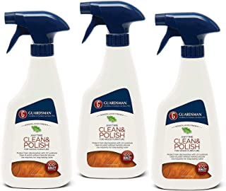 Guardsman Clean & Polish For Wood Furniture - Woodland Fresh - 16 oz Spray - Silicone Free, UV Protection - 461100 (3 PACK)