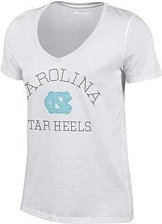 Champion Womens NCAA Women's University Short Sleeve V-Neck T-Shirt C5382-3, Team Color, Medium