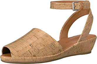 Gentle Souls Women's Lily Ankle Wrap Low Wedge Sandal