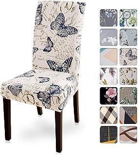 Cysincos - Fundas de silla elásticas, funda para silla de comedor, fundas blandas y elásticas, para silla, D, 4 Set