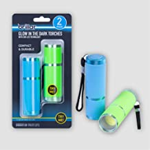 Brillar BR0036 BR0036 COB LED Glow-in-The-Dark Pocket Torch 2PK Energy Efficient Compact Portable 3 AAA Batteries Included