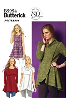 Butterick Patterns B5954 Misses' Tunic Sewing Template, Size ZZ (LRG-XLG-XXL)