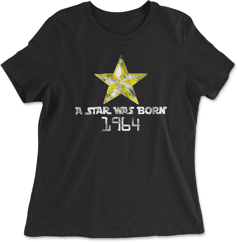 HARD EDGE DESIGN Women's A Star was Born 1964 T-Shirt