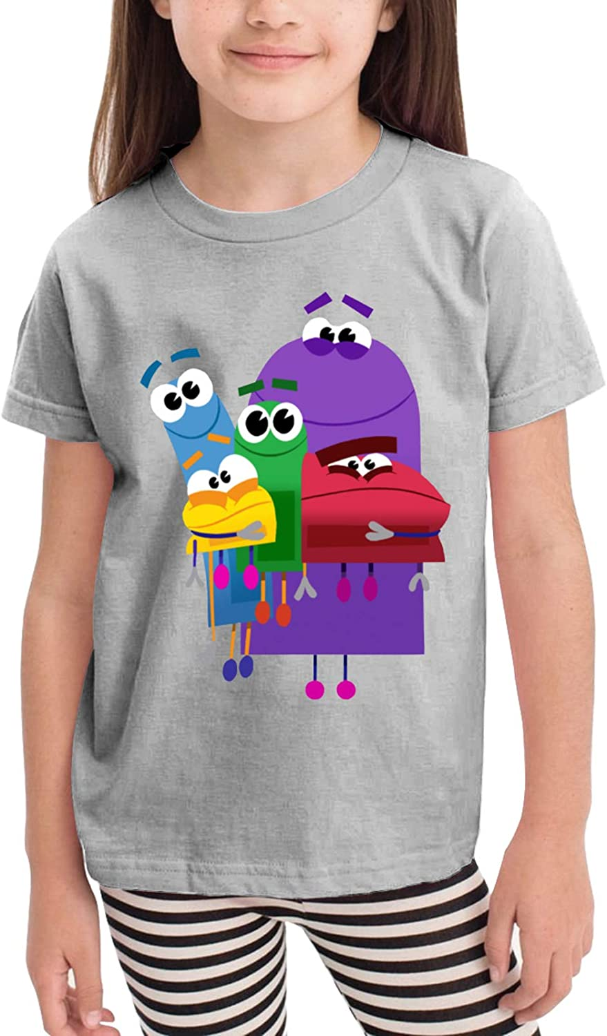 2-6 Years Old Kid Boys/Girls Ask The StoryBots Interesting Graphic T-Shirts,Inspired Athletic Tee Top for Summer,Spring,Fall