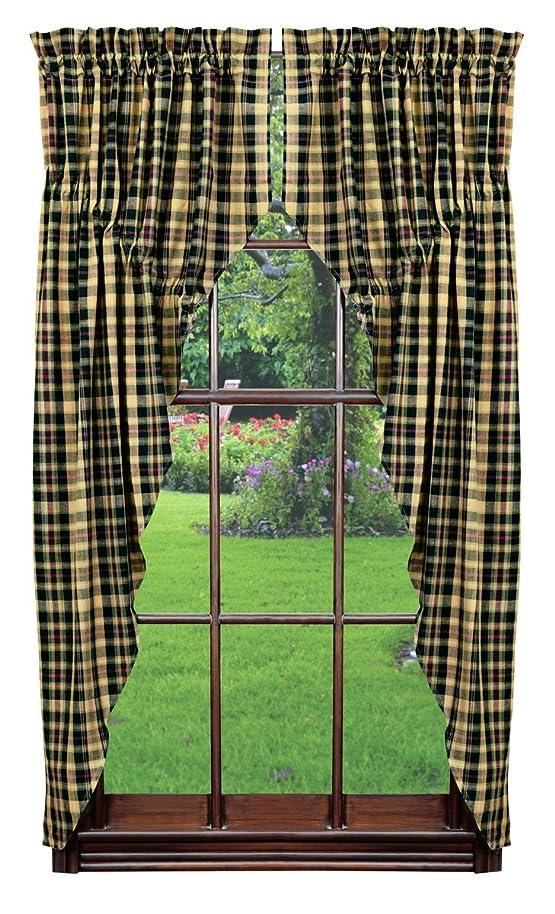 Olivia's Heartland Tartan Prairie Curtain Set