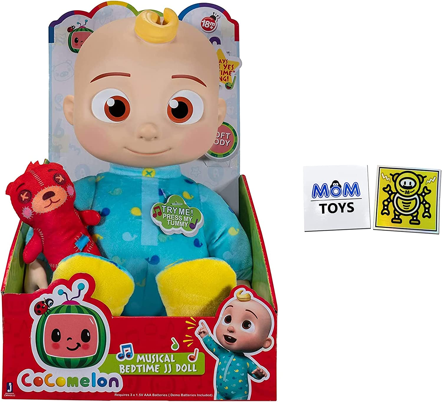 Cocomelon Musical Bedtime JJ Doll - The Toy in Package