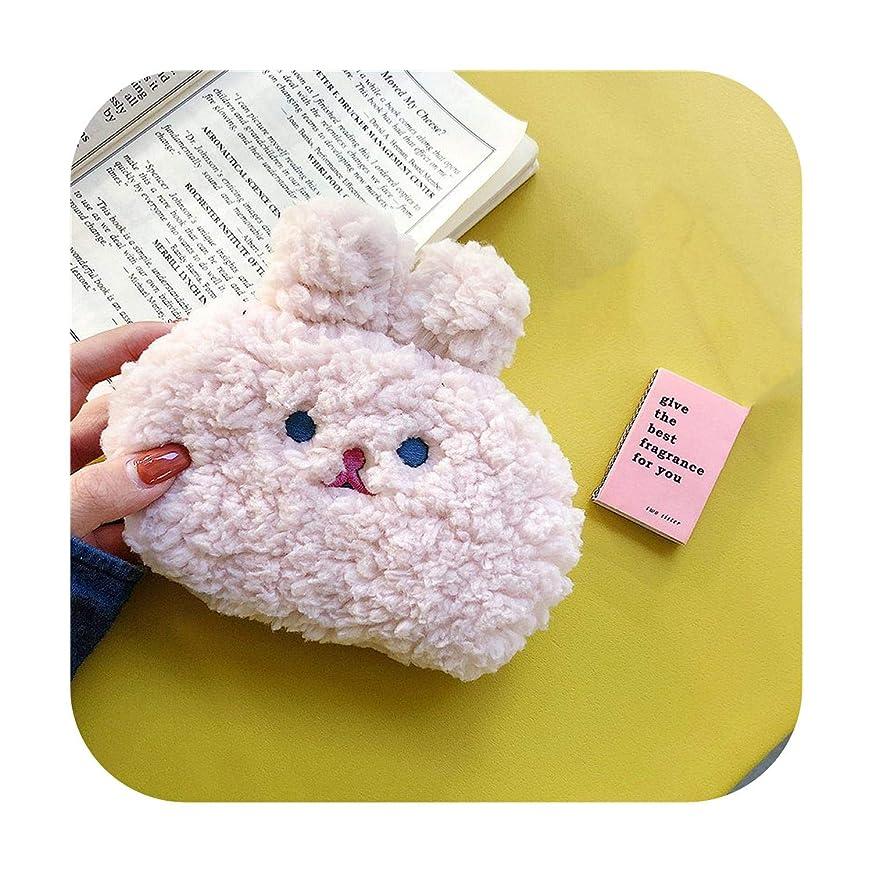 天井農民愛情Airpodsプロケースバッグ用のポータブルイヤホンケースEarpods SDカードアクセサリー用ジッパーストレージウサギぬいぐるみポーチバッグ-pink-