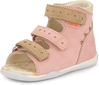 Dino First Walking Orthopedic Ankle Support Natural Leather Sandal (Toddler)