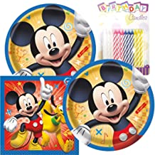 Amazon.com: Mickey Birthday Party Pack - Incluye 7 platos de ...