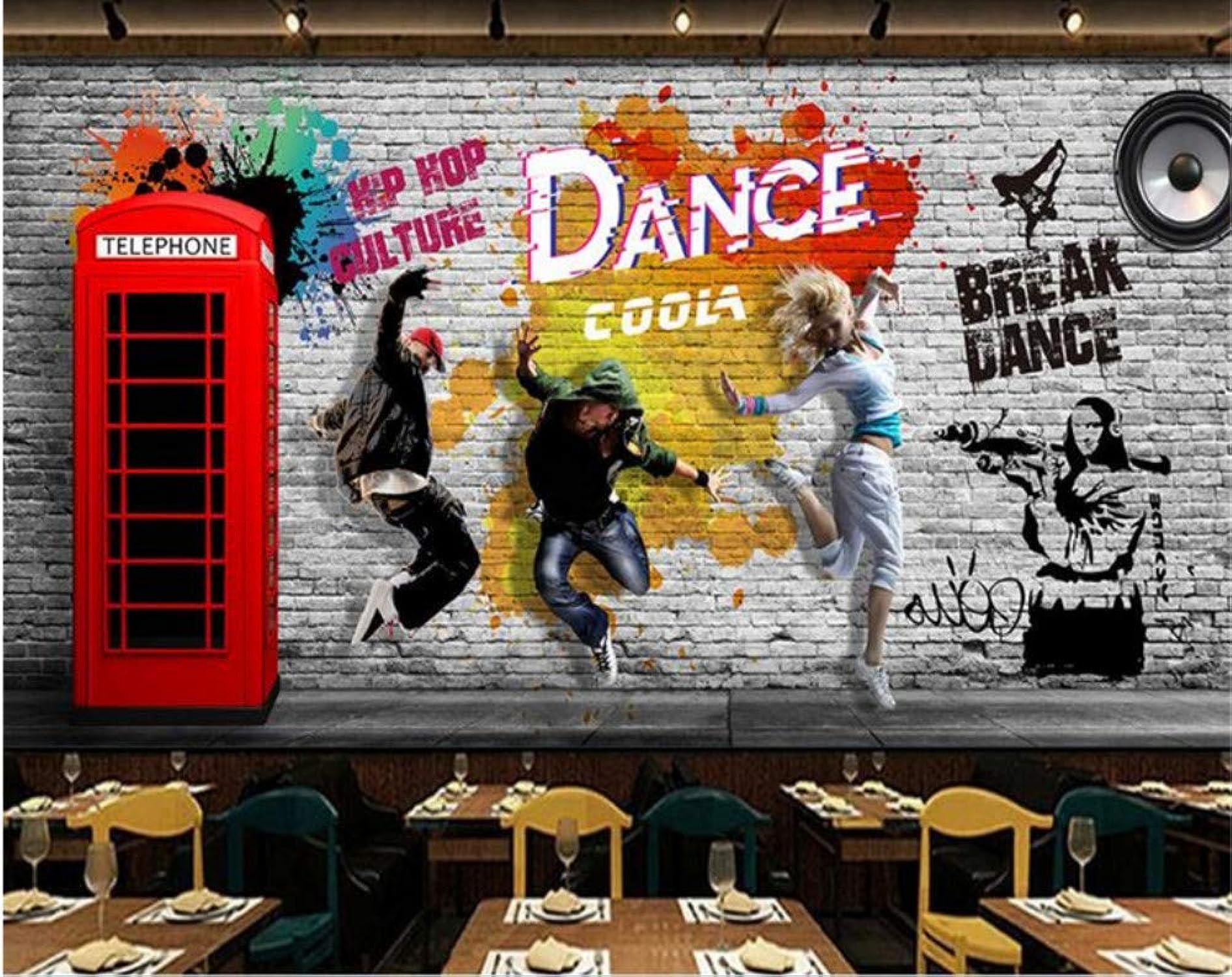 genuina alta calidad Mbwlkj Mbwlkj Mbwlkj Mural Personalizado, Pintado A Mano, Baile En La Calle, Papel Pintado, Decoración De Baile, Pintura De Fondo Fondos De Pantalla Para Sala De Estar-200cmx140cm  barato y de alta calidad