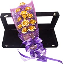 JEWEL FUEL Valentine Gift 24K Gold 11 Roses Bouquet With Gift Box (21 Inches)