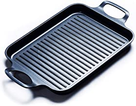 Grill Pan Stove Top Grill Induction Griddle, Grill Griddle Pan with Dual Handles by S.KITCHN