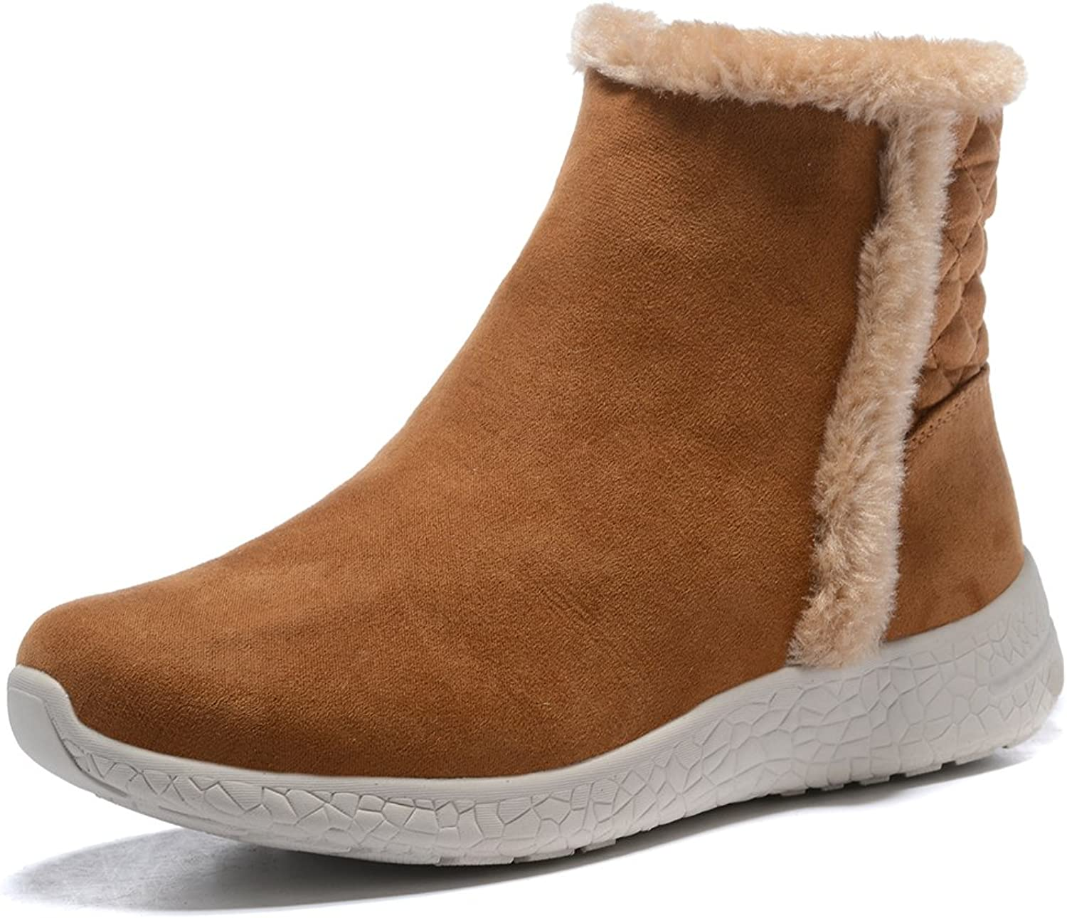 APELPES Womens Fully Fur Lined Winter Snow Boots