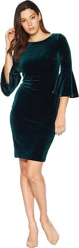 Bell Sleeve Velvet Dress CD8V133E